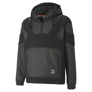 MEN PUMA BLACK TAILORED FOR SPORT RETRO HOODED